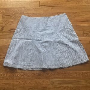 Blue and White Striped skirt. Size 6